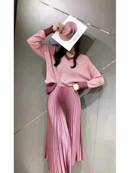Plisuotas sijonas Pink