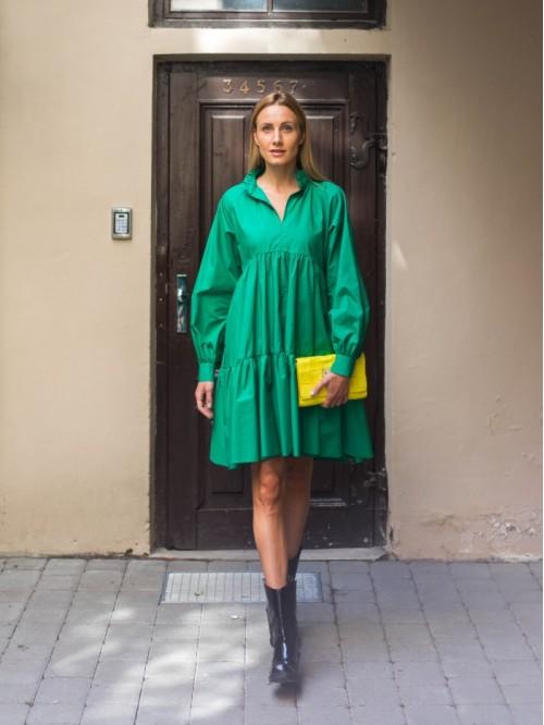 Universalaus dydžio žalia suknelė