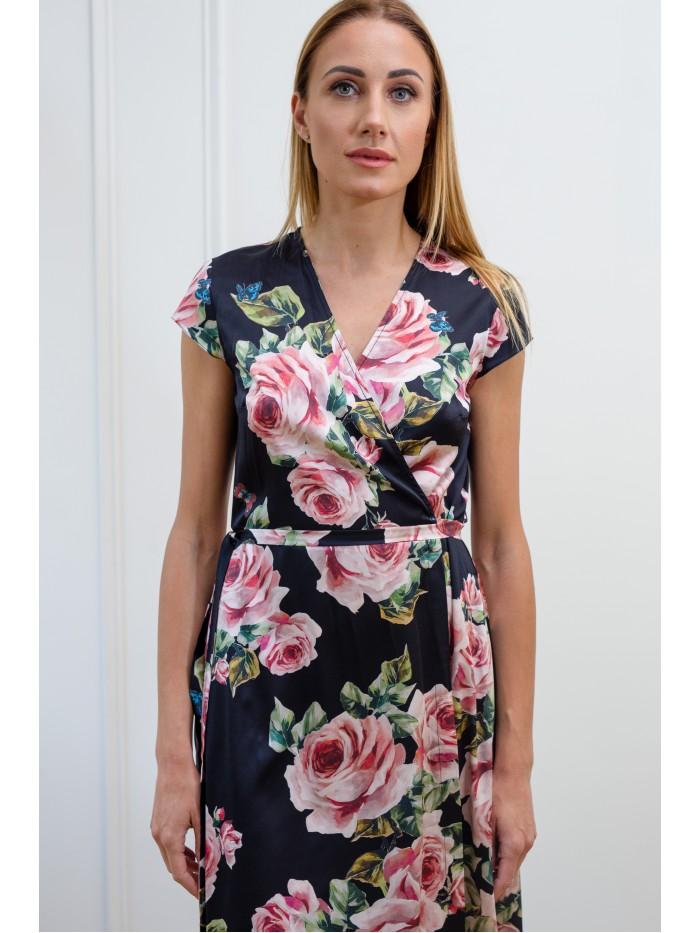 Šilkinė suknelė Roses