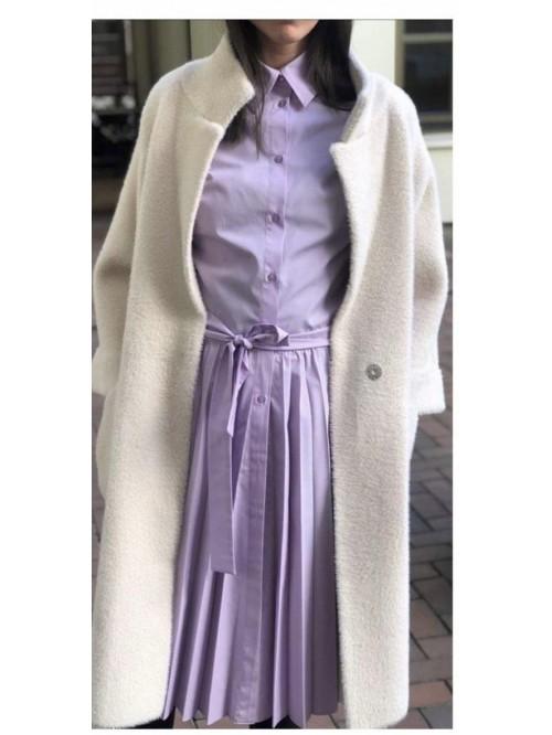 Kreminės spalvos paltukas